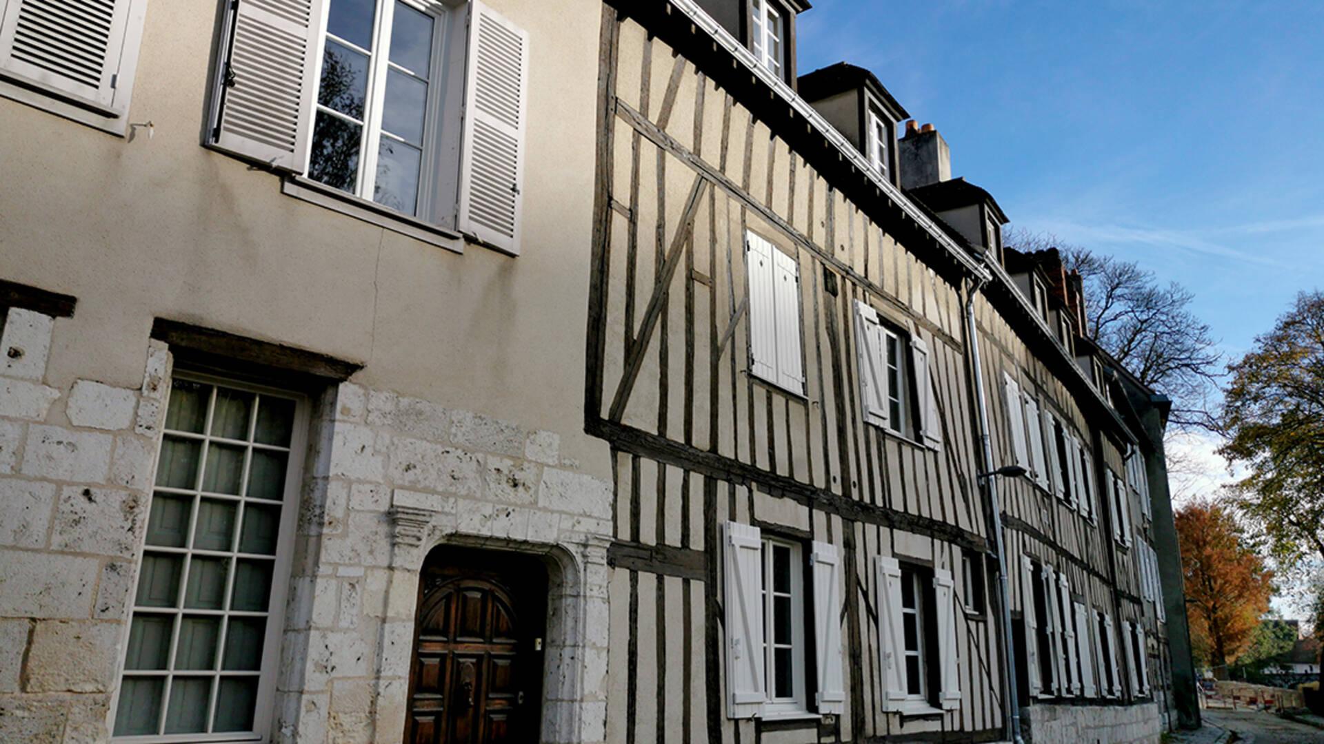 Maisons anciennes en ville basse de Chartres