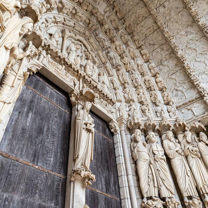 Sculptures de la cathédrale - © C'Chartres Tourisme - Studio Martino